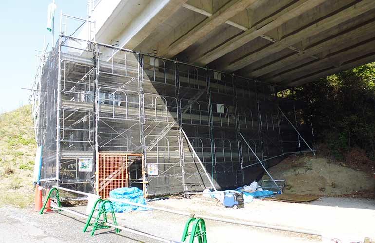 橋りょう修繕工事施工状況